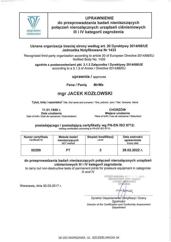 Test Plb Certificates